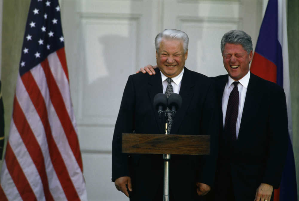 Boris Jeljcin i Bil Klinton