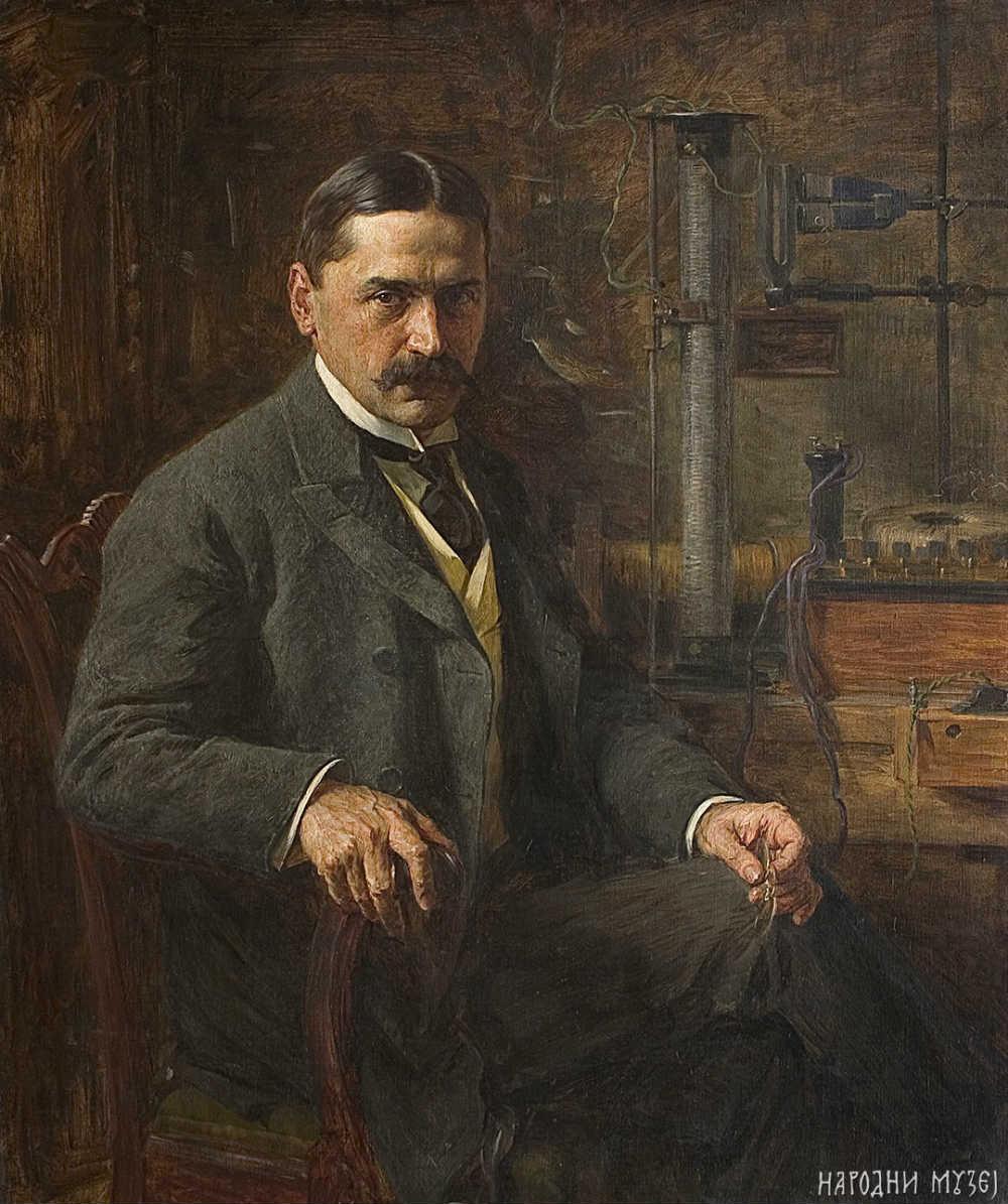 Portret Mihajla Pupina, rad velikog srpskog slikara Paje Jovanovića