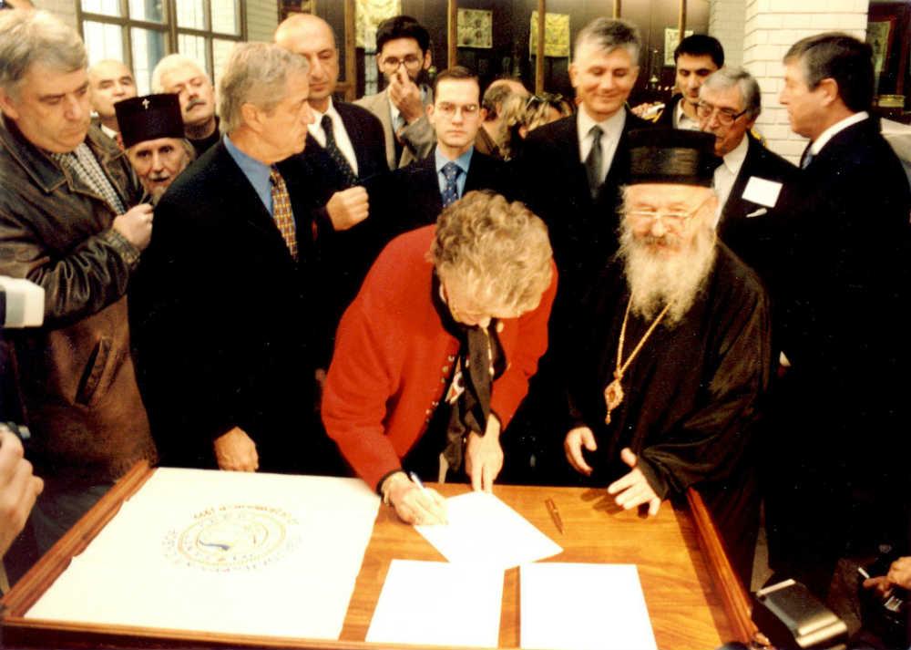 Potpisivanje Deklaracije na Sentandrejskom saboru 1999. godine