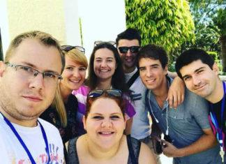 Luka Nikolić sa učesnicima u Hamametu, Tunis