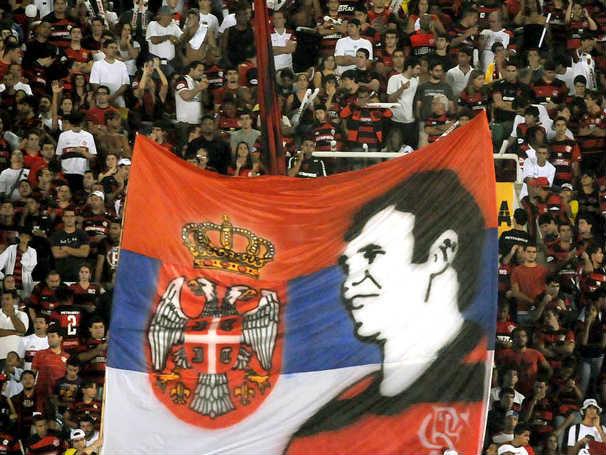 Navijači Flamenga na oproštaju Dejana Ramba Petkovića od fudbala
