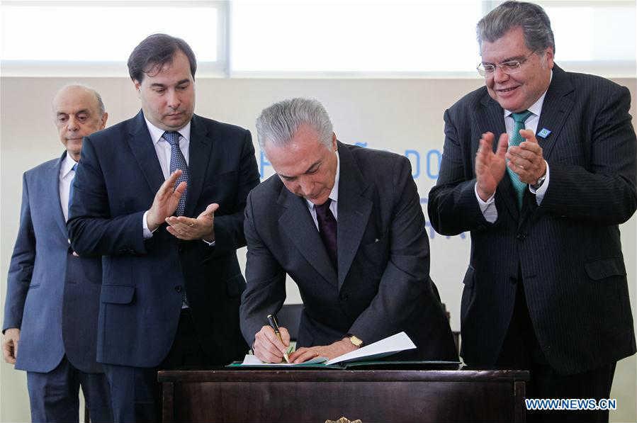 Temer na ceremoniji ratifikacije Pariskog klimatskog sporazuma u Braziliji