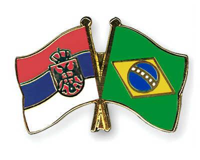 Zastave Srbije i Brazila