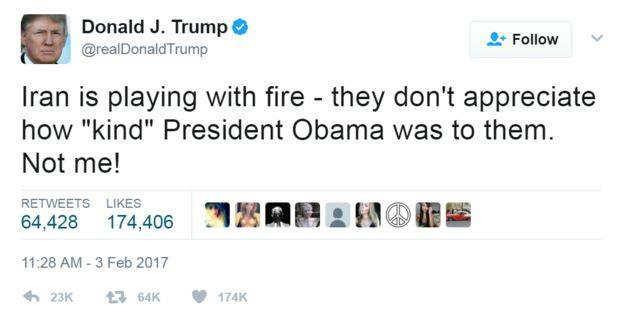 Trampov tvit o Iranskom nuklearnom sporazumu