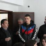 Radomir Jovanović, vođa puta se obraća prisutnim domaćinima