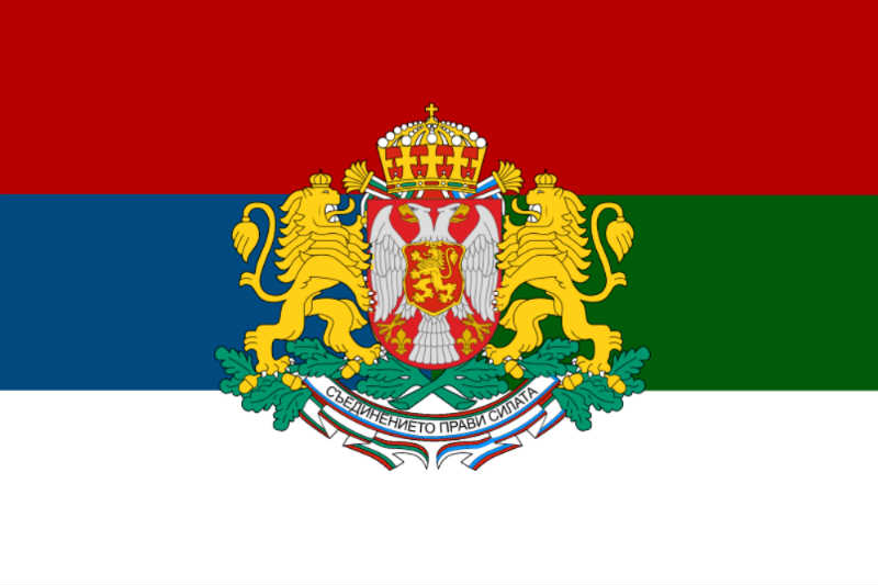 Jedan od modela zastave zamišljene zajedničke države