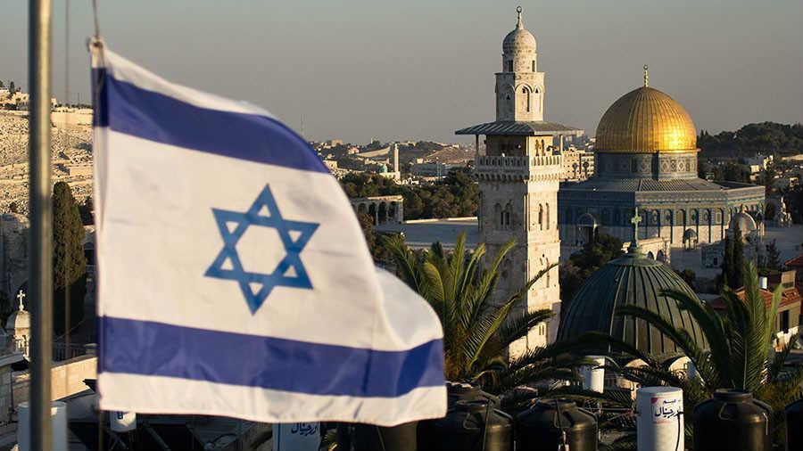 Zastava Izraela iznad Jerusalima