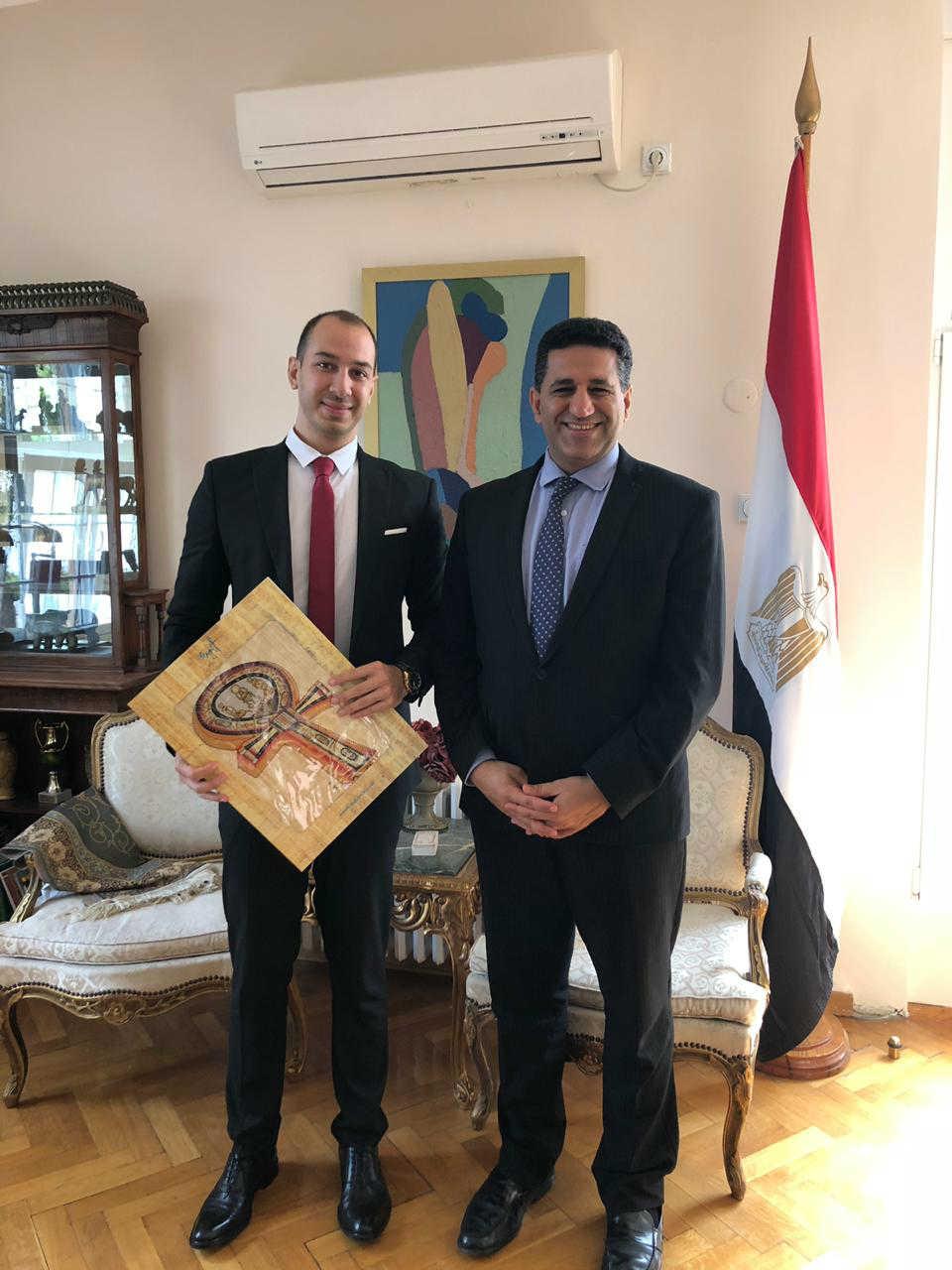 Aleksandar Klarić i ambasador Egipta u Srbiji Nj.E. Amr Fati Mohamed Alguveili