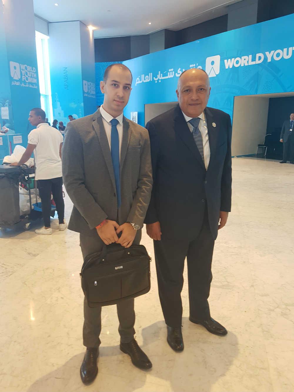 Aleksandar Klarić i ministar spoljnih poslova Egipta Sameh Hassan Shoukry