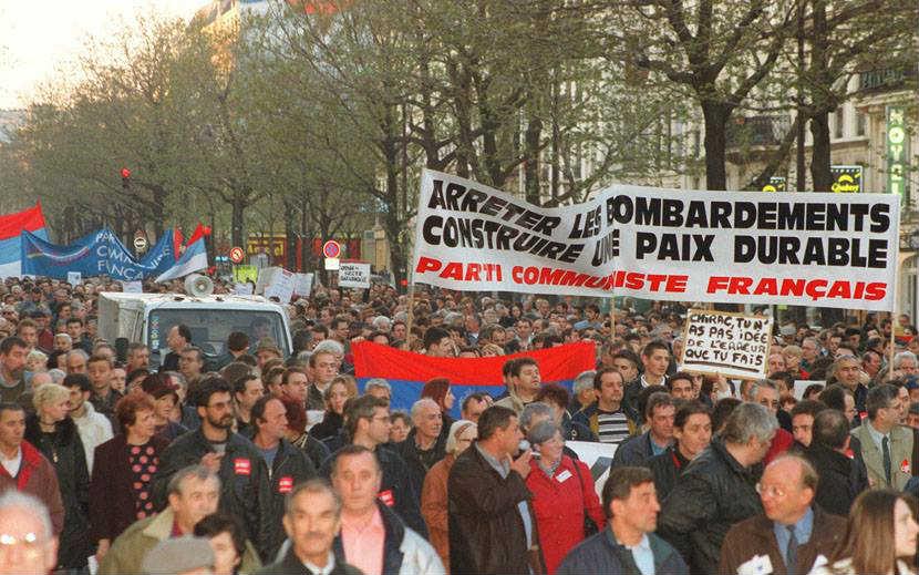 Protesti u Francuskoj povodom bombardovanja SRJ