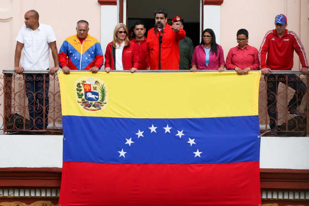 Predsednik Venecuele Nikolas Maduro se obraća svojim pristalicama