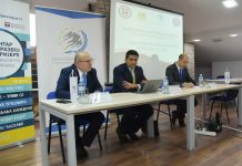 Profesor dr Zoran Krstić, ambasador Egipta, gospodin Alguvejli i Aleksandar Klarić