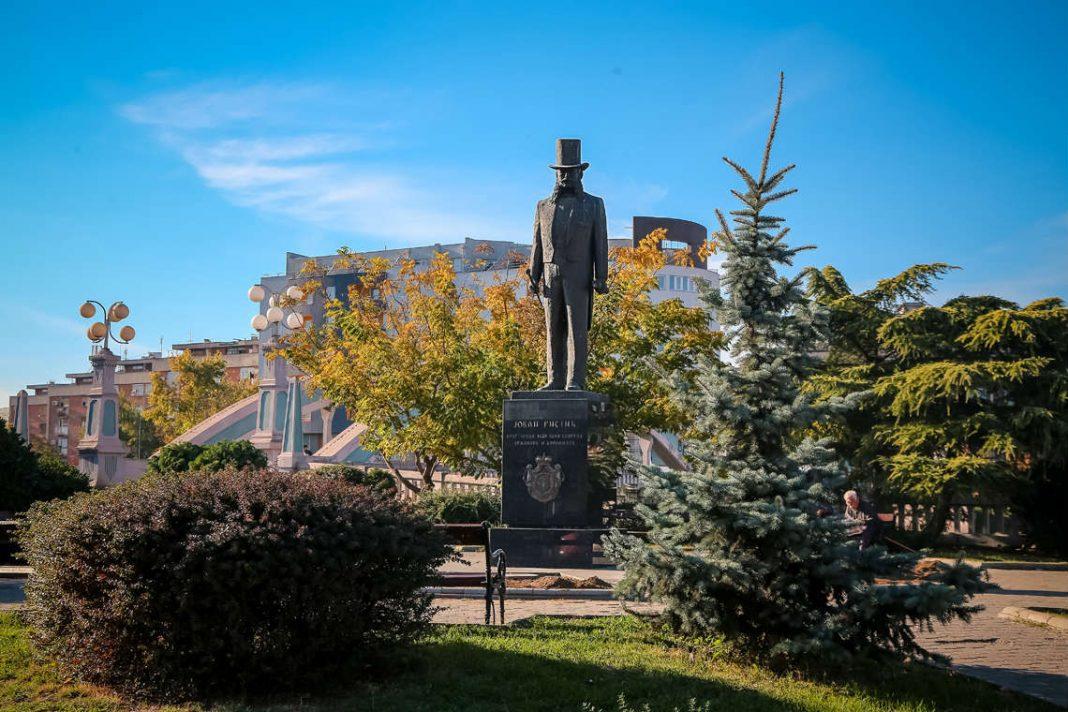 Jovan Ristić - spomenik u Kragujevcu