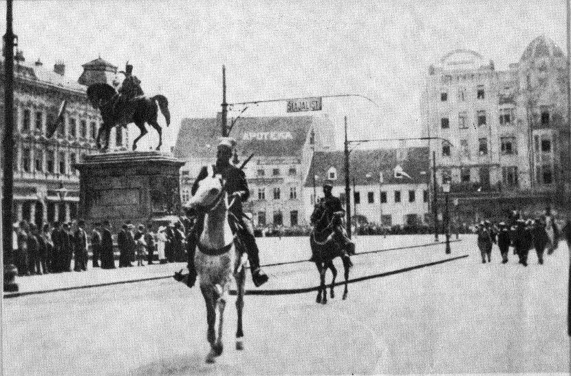 Ulazak srpske vojske u Zagreb nakon Prvog svetskog rata, 05. decembra 1918. godine