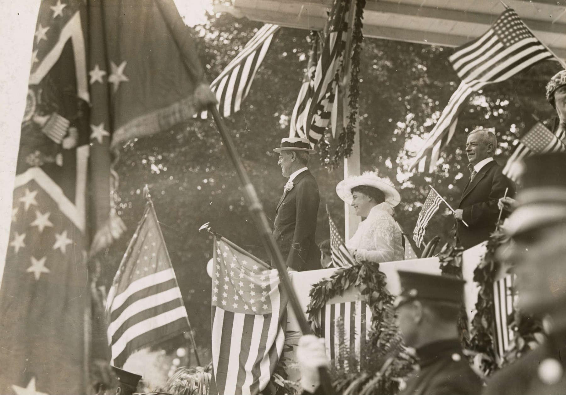 Američki predsednik Vudro Vilson u obraćanju svojim pristalicama