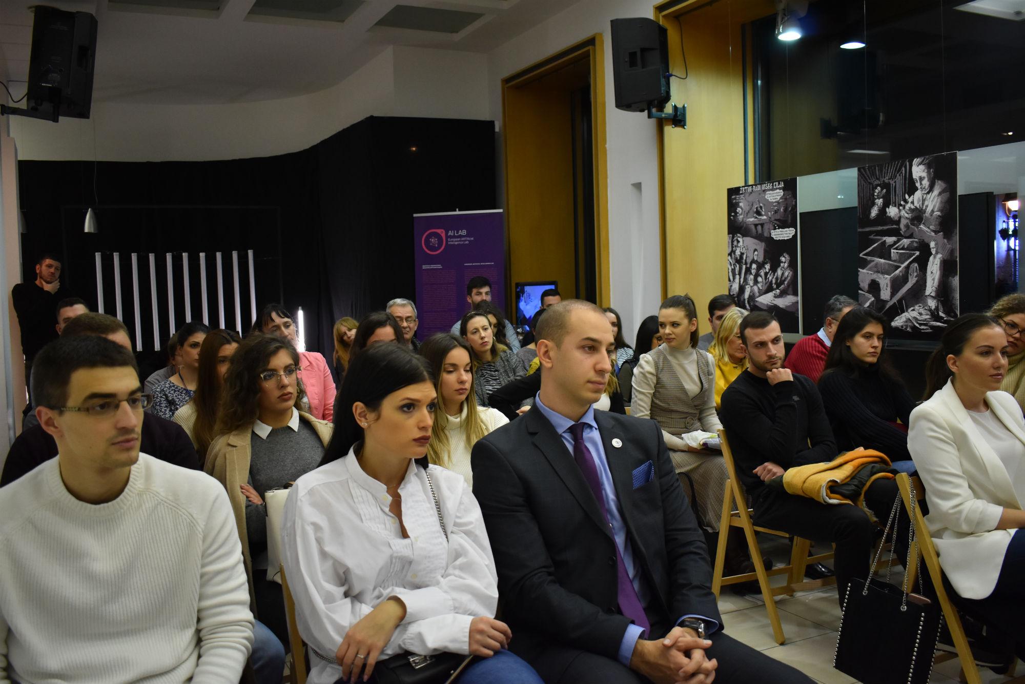 Učesnici na panelu u prostorijama Francuskog instituta (Foto: Bojan Stajić)