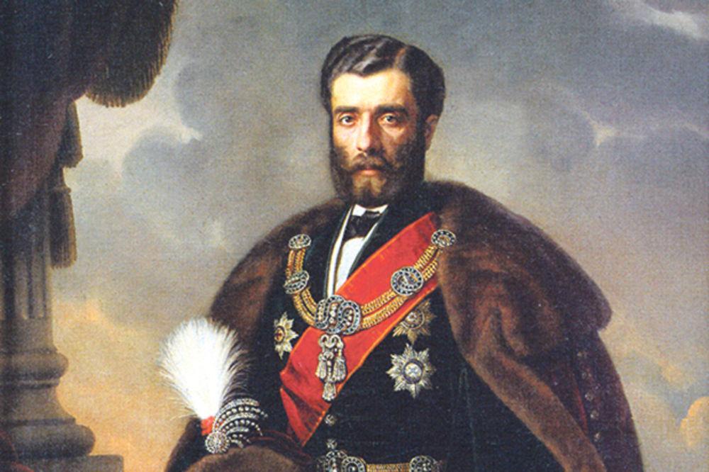 "Johan Bes, ""Portret kneza Mihaila Obrenovića"""