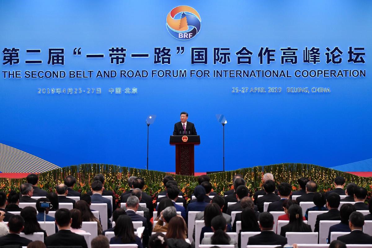 Kineski predsednik Si Đinping tokom govora na Forumu pojas i put u Pekingu, 27. april 2019. (Foto: Wang Zhao/Getty Images)